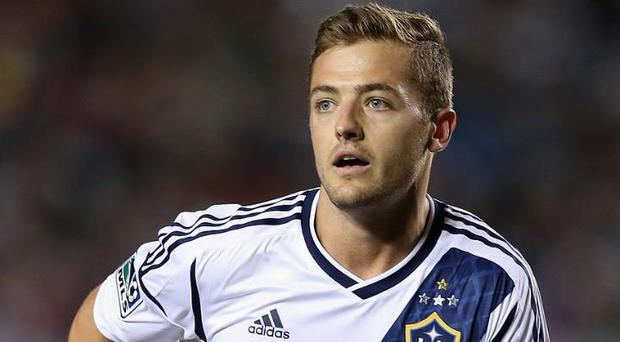 Controversy: Robbie Rogers, the openly gay LA Galaxy defender, was the victim of homophobic abuse Credit: Getty Images