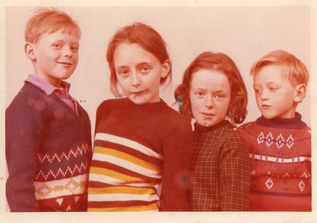John Chambers and his siblings pictured in Belfast. The writer found his mother after more than 25 years of searching.