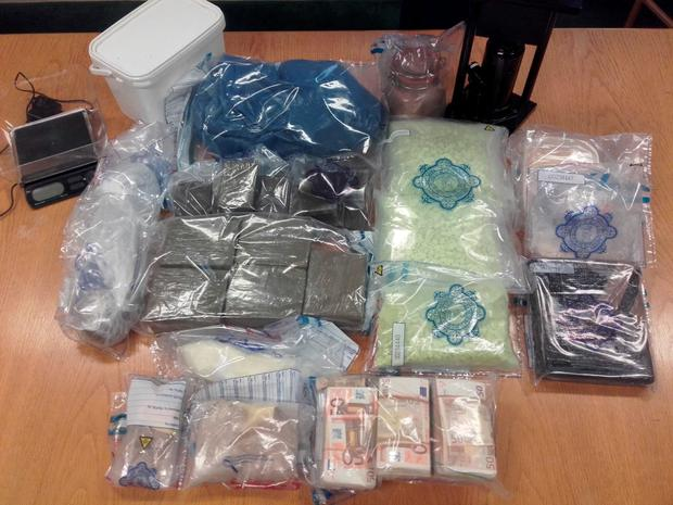 Drugs and paraphenalia seized during Meath raid