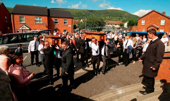 Joseph Murphy, a victim of the 1971 British Army shootings in Ballymurphy, west Belfast, and his wife Mary are to be buried together at Corpus Christi Parish church in West Belfast after dying on the same day, 45 years apart