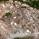 An aerial photo of the damage in Amatrice Photo: REUTERS/Stefano De Nicolo