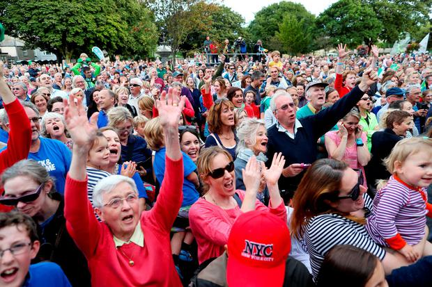 The People's Park was packed for Annalise Murphy's welcome home party Photo: MAXWELLPHOTOGRAPHY.IE