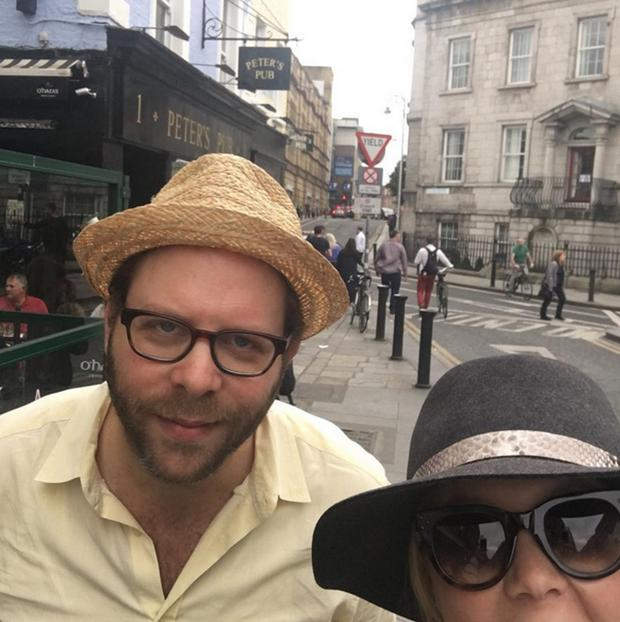 Amy Schumer with her brother Jason Stein in Dublin. Picture: Instagram
