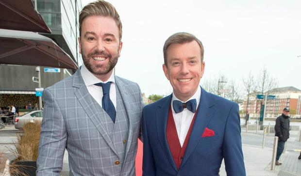Alan Hughes, pictured with his partner Karl Broderick, at the VIP Style Awards 2016