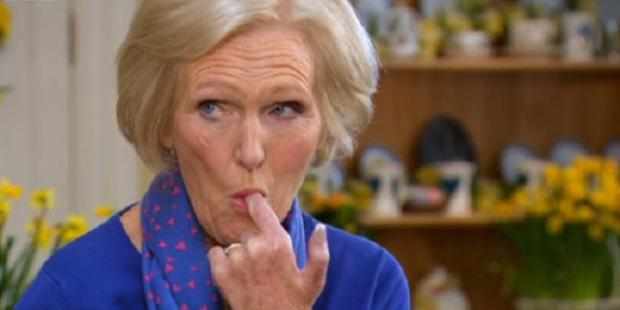 Mary Berry has revealed how she stays slim despite tasting plenty of naughty treats on The Great British Bake Off. Photo: ITV