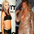 (L to R) Christina Aguilera in 2001, Beyonce in 2003 and Britney Spears in 2001