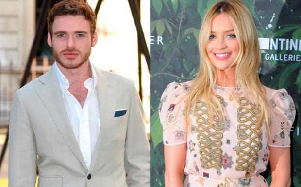 Richard Madden, left, and Laura Whitmore, right
