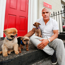 Kevin Sharkey outside his homeless centre in Dublin City Photo: Gerry Mooney