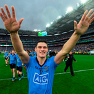 Diarmuid Connolly, pictured here celebrating after last year's All-Ireland final, will be hoping to pile on the agony for Kerry tomorrow. Picture: Stephen McCarthy / SPORTSFILE