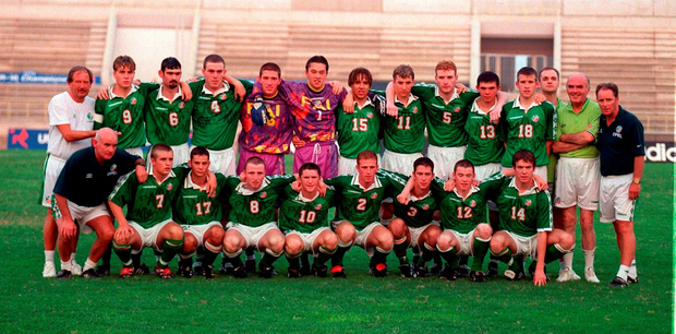 The U18 team that played at the 1998 European Championship in Cyprus.