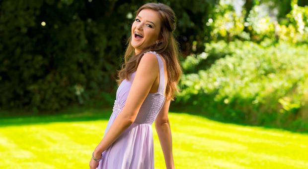 Eimear Gilhooly, Barntown, Wexford in her debs dress. She went to Loretto school debs last week and going to the Presentation debs next week. Picture: Patrick Browne