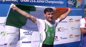 Paul O'Donovan before he received his gold medal this morning