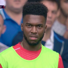 Daniel Sturridge's reaction to Jurgen Klopp's being on Divock Origi instead of him was caught on camera CREDIT: PREMIER LEAGUE TV
