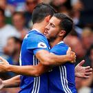 Chelsea's Eden Hazard celebrates scoring their first goal Reuters / Eddie Keogh