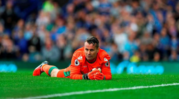 Shay Given of Stoke City reacts after failing to save a penalty during the Premier League match between Everton and Stoke City at Goodison Park on August 27, 2016 in Liverpool, England. (Photo by Lynne Cameron/Getty Images)