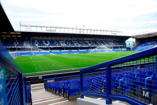 A general view of the pitch prior to the Premier League match at Goodison Park