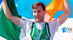 Paul O'Donovan: 'I was a bit shocked how quick I was going'. Photo: Herman Dingler/Sportsfile