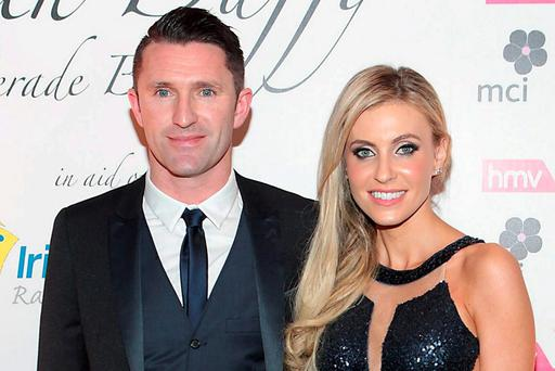 GRATEFUL FOR REALISED DREAMS: Ireland striker Robbie Keane and his wife Claudine. Robbie announced his retirement from international football last week. Picture:Brian McEvoy