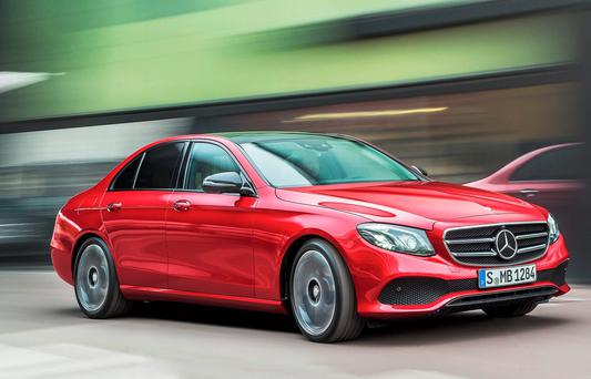 Mean Machine: The E-Class Mercedes is highly fuel efficient, low on emissions and therefore on road tax, and a real joy to drive.
