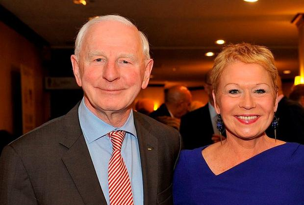 Pat Hickey and his wife Sylviane at an Olympic function in Washington. (Photo by Larry French/Getty Images for ANOC)