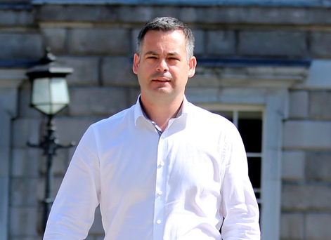 Sinn Fein Finance spokesperson Pearse Doherty meets the media to comment on Government tax hikes if USC abolished at Leinster House. Photo: Tom Burke