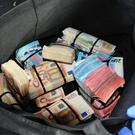 The seizure of cash Photo: Garda Press Office