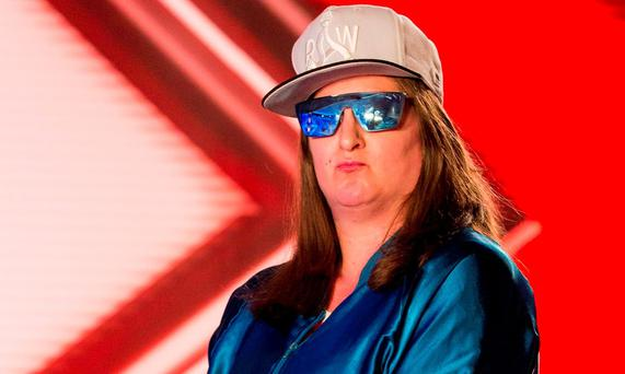 Honey G, otherwise known as 35-year-old Anna Georgette Guilford, during the audition stage for the ITV1 talent show, The X Factor. Picture: Syco/Thames TV/PA Wire