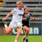 Maria Moolick of Kildare in action against Etna Flanagan of Sligo. Photo: Sportsfile