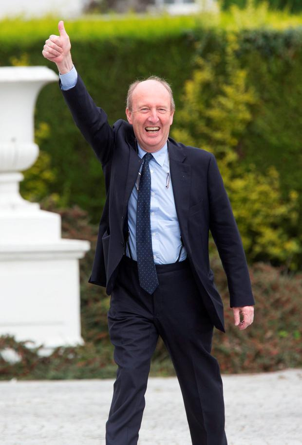 Shane Ross at Áras an Uachtaráin yesterday. Photo: Colin O'Riordan