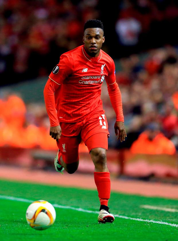 Liverpool's Daniel Sturridge. Photo: Nigel French/PA Wire