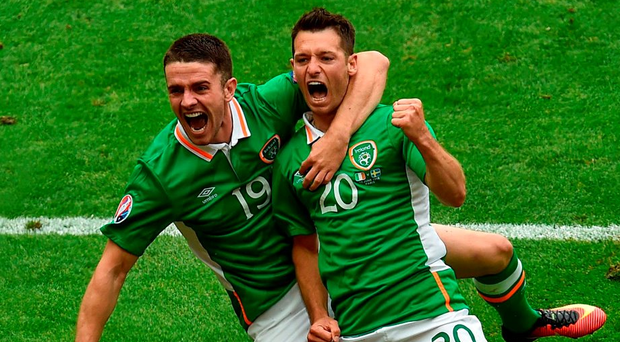 Robbie Brady, pictured with Wes Hoolahan (right), proved himself for Ireland in Euro 2016. Photo: Sportsfile