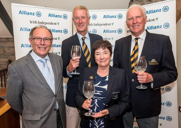 Runners-up: Mount Juliet captain Pat Garvey, lady captain Helen Hedigan and hon secretary Tom Duggan with Donal Bollard of Allianz. Photo: Pat Moore.