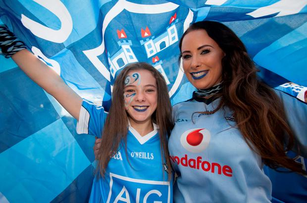 Nicole and Aine McClean, from Swords. Photo: Gareth Chaney Collins
