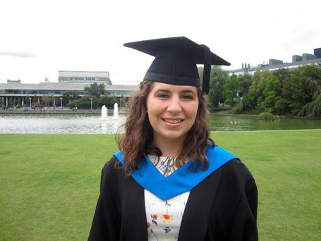 Masters student Ciara Leacy: 'I just got very lucky'.