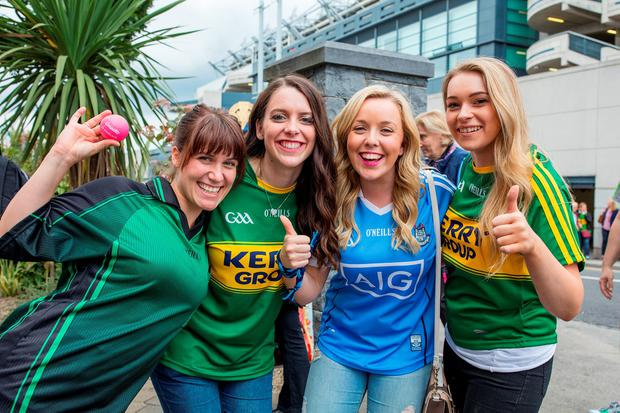 Fans at Croke Park after Dublin's All-Ireland semi-final win over Kerry. Photo: Arthur Carron