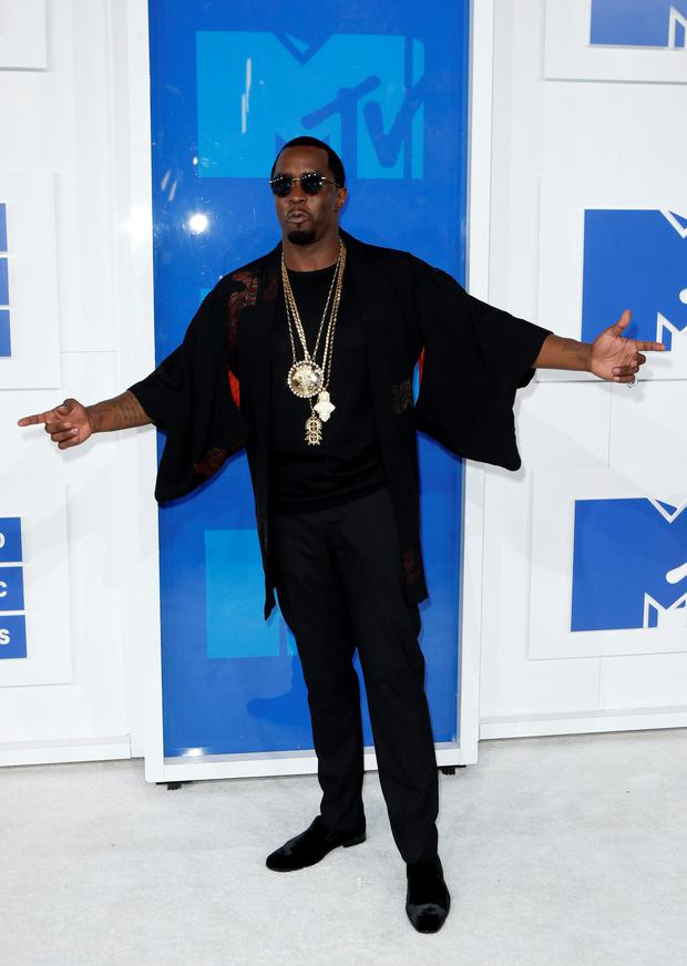 Rapper Sean Diddy Combs arrives at the 2016 MTV Video Music Awards in New York, U.S., August 28, 2016. REUTERS/Eduardo Munoz