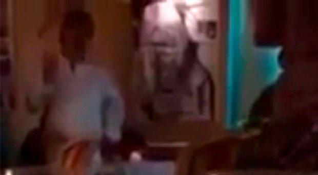 The restaurant owner, left, told the two women that 'terrorist are Muslims and all Muslims are terrorist'