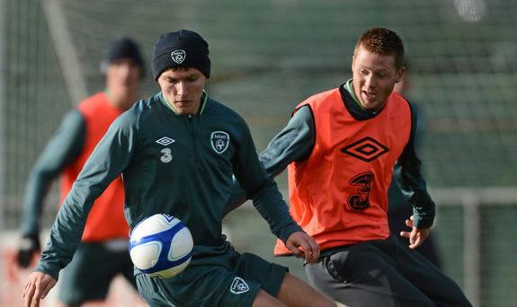 Republic of Ireland's Jeff Hendrick, left, and James McCarthy could be on the move this week