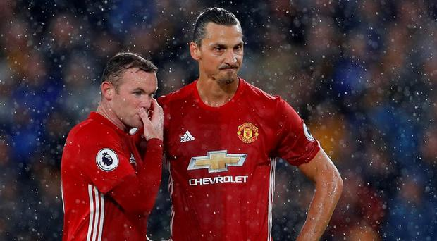 Manchester United's Wayne Rooney and Zlatan Ibrahimovic Action Images via Reuters / Lee Smith
