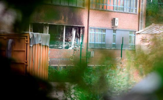 Five people detained over fire at Brussels criminology institute