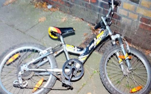 The abandoned child's mountain bike was later discounted Credit: Surrey Police