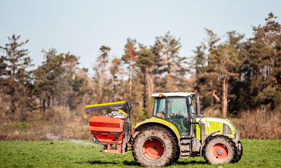 The plan for chemical fertiliser usage focuses on applying the appropriate quantities for the needs of the farm. Stock Image