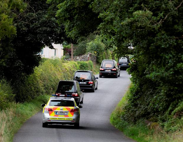 Gardai investigate the discovery of the bodies of a couple and their three children at a house at Barconey, Ballyjamesduff in Cavan. Picture: Arthur Carron