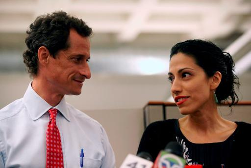 Huma Abedin, right, said she is separating from Anthony Weiner after sexting claims. Photo: Getty Images