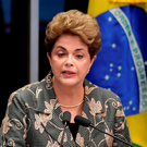 Brazil's first female president, Dilma Rousseff, was forced to step aside when impeachment procedings began in May. Getty Images