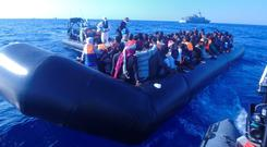 The LE James Joyce and its crew rescued 617 migrants trying to cross the Mediterranean Sea yesterday