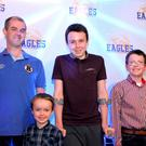 Alan Hawe is pictured with his sons Ryan (6), Liam (13), and Niall (11) at an East Cavan Eagles basketball game in May of this year.