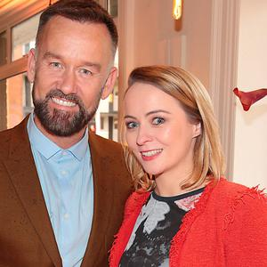 Brendan Courtney and Roisin Tierney Crowe at the reveal of the Clarisonic Alfa and Mia Fit Sonic Cleansing Device at Counter Culture, Dublin. Picture: Brian McEvoy