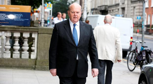 Finance Minister Michael Noonan,TD at Leinster House earlier today. Photo: Tom Burke