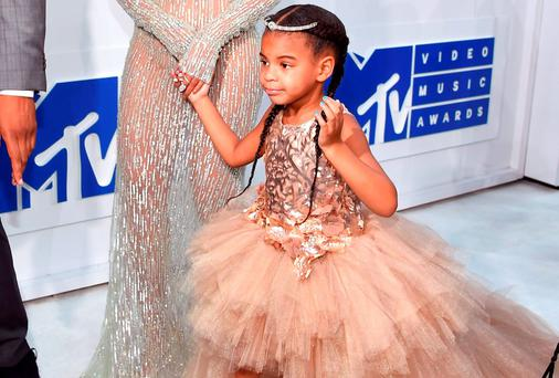 Beyonce and Blue Ivy attend the 2016 MTV Video Music Awards at Madison Square Garden on August 28, 2016 in New York City. (Photo by Larry Busacca/Getty Images for MTV)